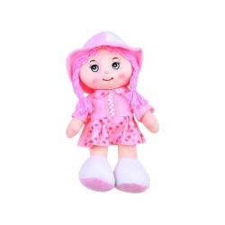Lalka Zuzia w kapeluszu szmaciana lala 28cm ZA2654 różowa