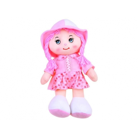 Lalka Zuzia w kapeluszu szmaciana lala 28cm ZA2654