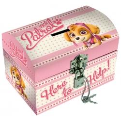 Pudełko na biżuterię z kłódką Psi Patrol