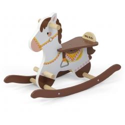 MILLY MALLY Koń drewniany na biegunach Lucky 12 brown