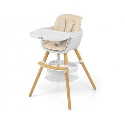 MILLY MALLY Krzesełko do karmienia 2 w 1 Espoo Beige