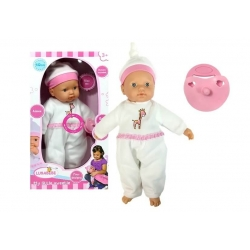 Lalka Bobas w Białej Piżamie ze Smoczkiem