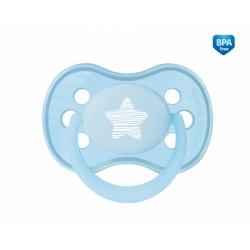CANPOL 22/416 Smoczek uspokajający silikonowy symetryczny 0-6m niebieski