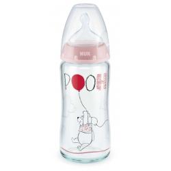 NUK 212042 Butelka FC+ szklana 240 ml Kubuś Puchatek
