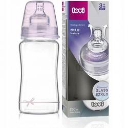LOVI 74/204 Butelka szklana Diamond Glass 250 ml Baby Shower girl