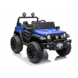 Auto Samochód na akumulator JEEP TERENOWY 4x4 do niebieski