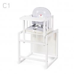 KLUPŚ Krzesełko wielofunkcyjne AGA biały C1