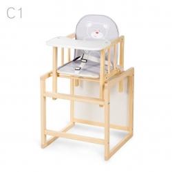 KLUPŚ Krzesełko wielofunkcyjne AGA sosna C1 szare