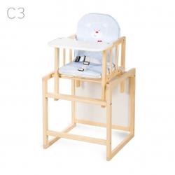 KLUPŚ Krzesełko wielofunkcyjne AGA sosna C3 niebieskie