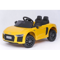 Samochód na akumulator AUDI R8 SPYDER 12V żółty