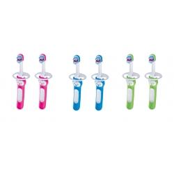 MAM 9090402 Szczoteczka do mycia zębów Baby's Brush 6+ 2 szt
