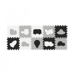 B.O.394/02 Puzzle piankowe 10 szt. pojazdy