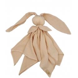 BABY 01085 Pielucha muślinowa Hug Me Bunny morela
