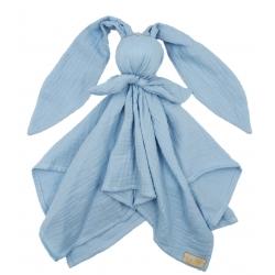 BABY 01083 Pielucha muślinowa Hug Me Bunny niebieski