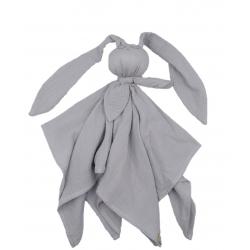 BABY 01081 Pielucha muślinowa Hug Me Bunny szary
