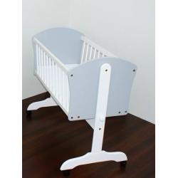 BR Kołyska łóżeczko dziecięce 90x40cm biało-popielata