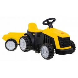 Traktor z Przyczepą Żółty
