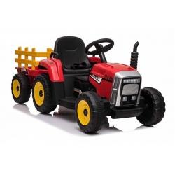 Traktor na Akumulator z Przyczepą Czerwony