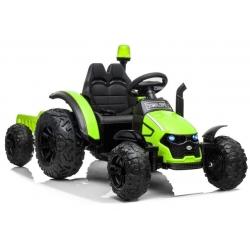 Traktor na akumulator z Przyczepą Zielony