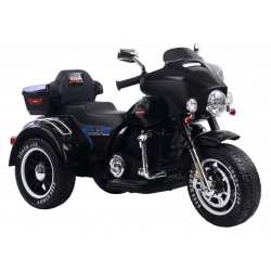Motocykl na Akumulator trójkołowy Czarny