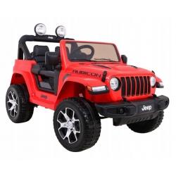 Auto na akumulator Jeep Wrangler Rubicon Czerwony